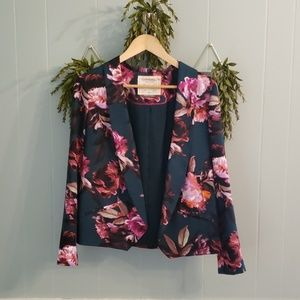 Anthropologie Cartonnier flower blazer